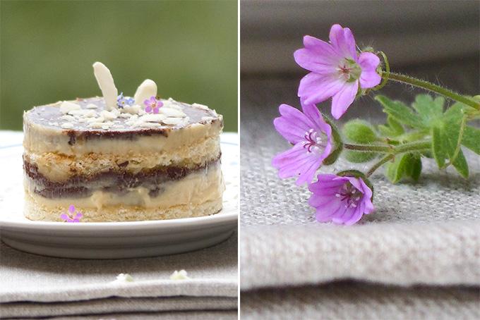 Gâteau Opéra et Fleurs