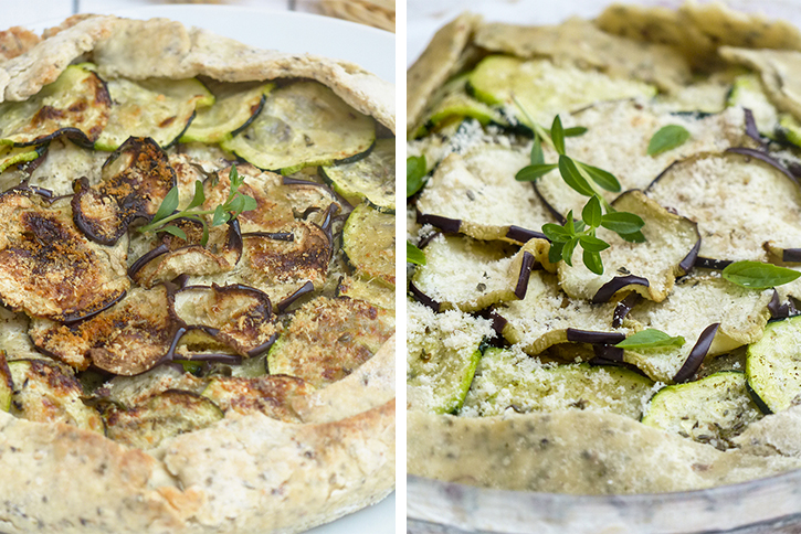 Tarte courgettes-aubergines