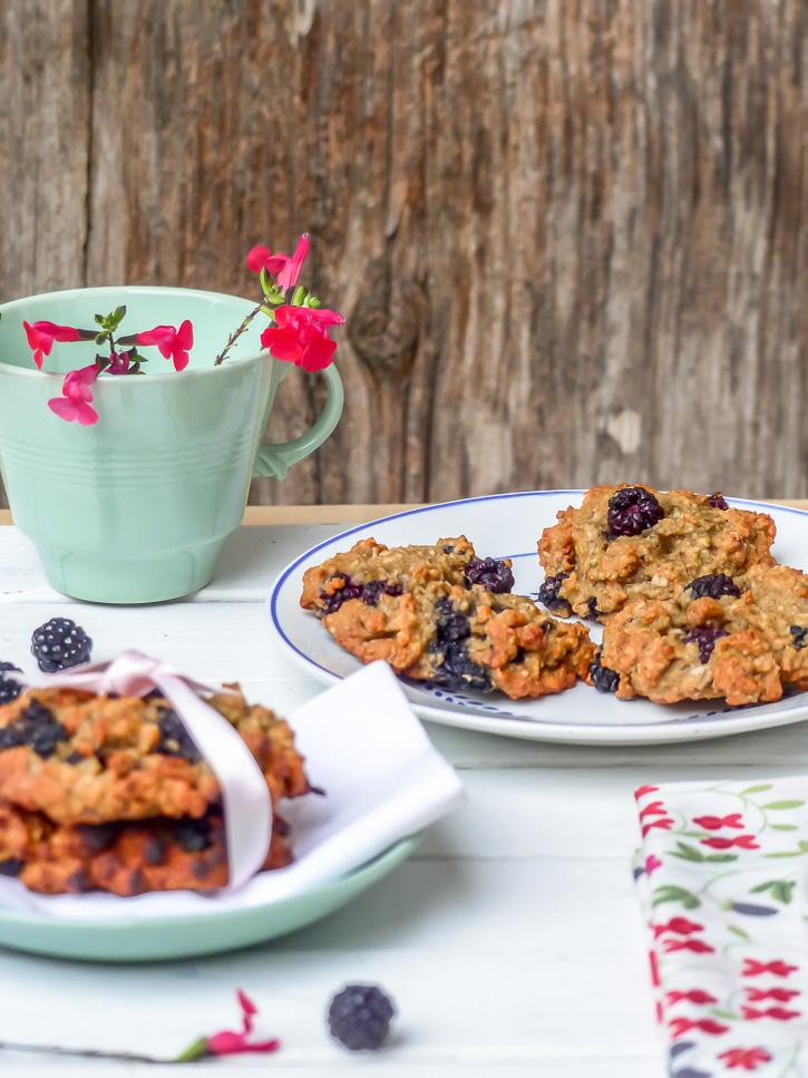 Cookies végétaux aux mûres