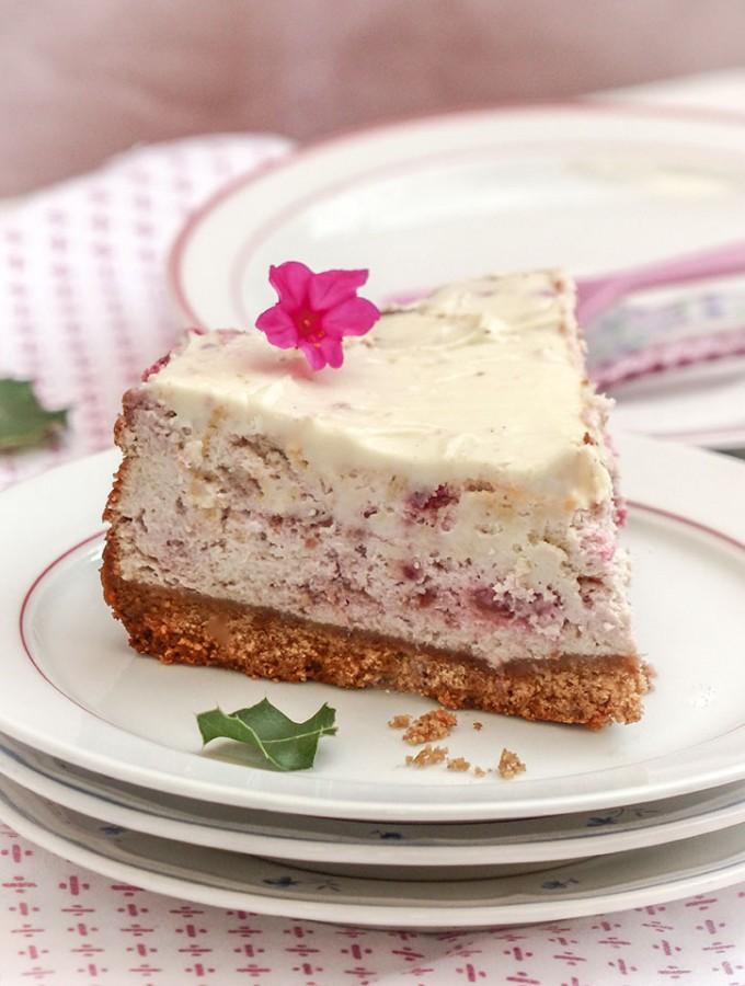 Cheesecake-chocolat blanc-framboise