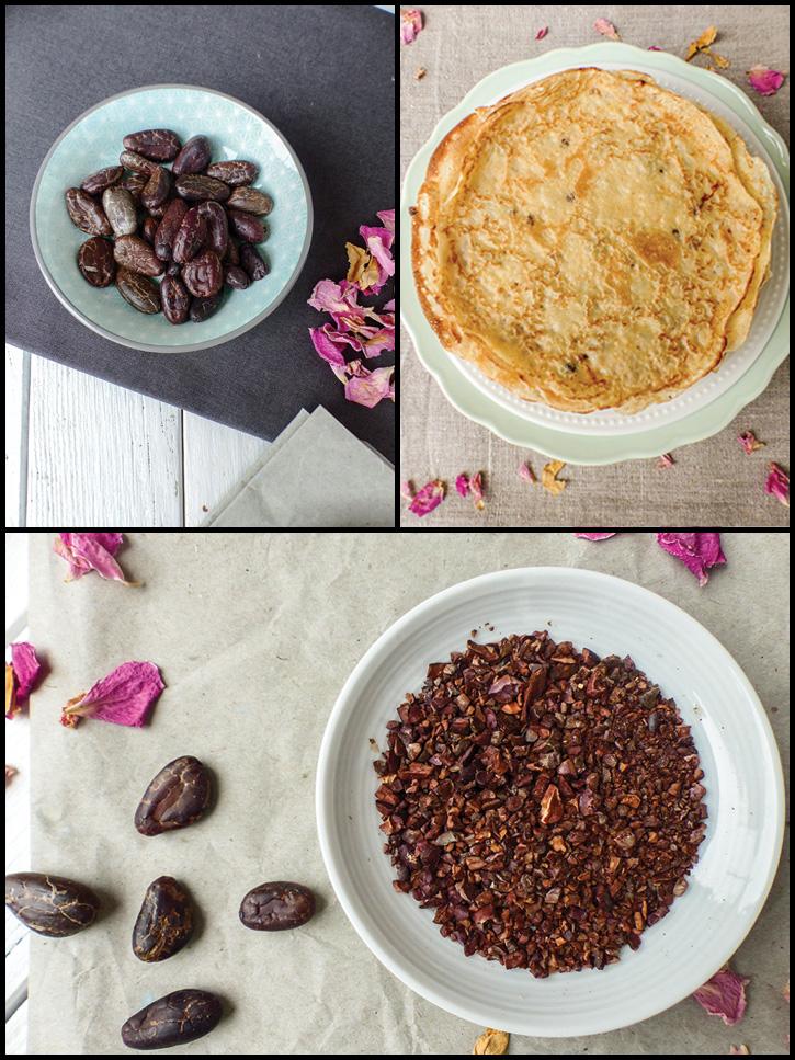 Crêpe Suzette à la clémentine et fèves de cacao