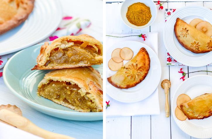 Empanadas au chutney de pommes, curry