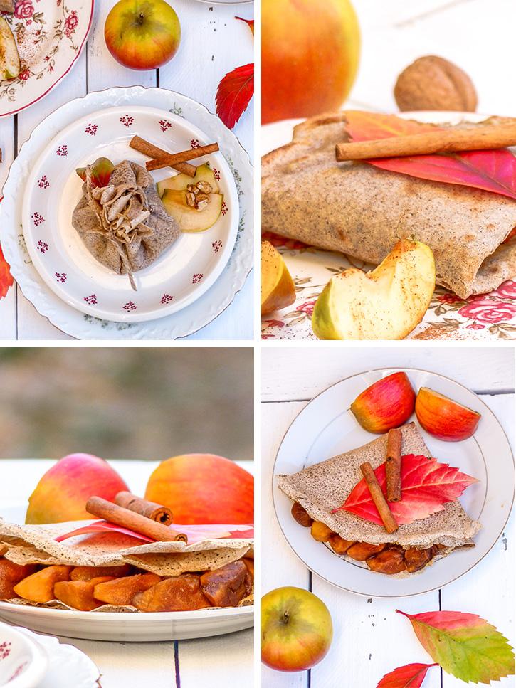 Galettes de sarrasin pomme cannelle