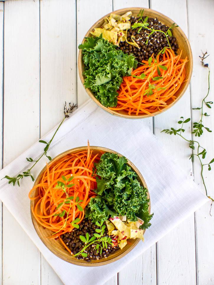 Veggie bowl au chou kale
