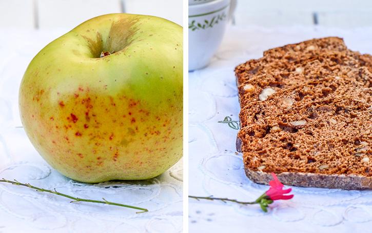 Cake pommes, fruits secs et épices