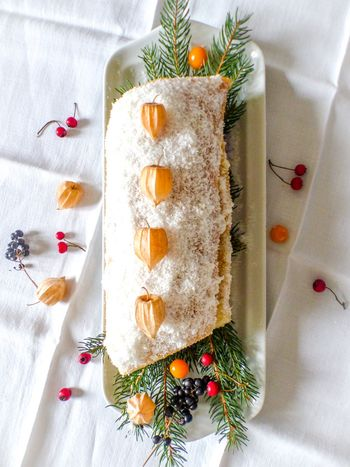 bûche de noël aux fruits #vegan