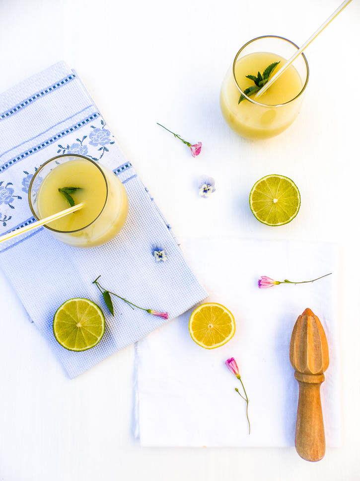 Citronnade mélisse menthe