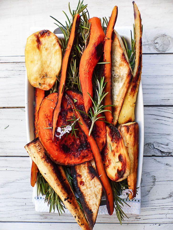 Légumes anciens rôtis au sirop d'érable