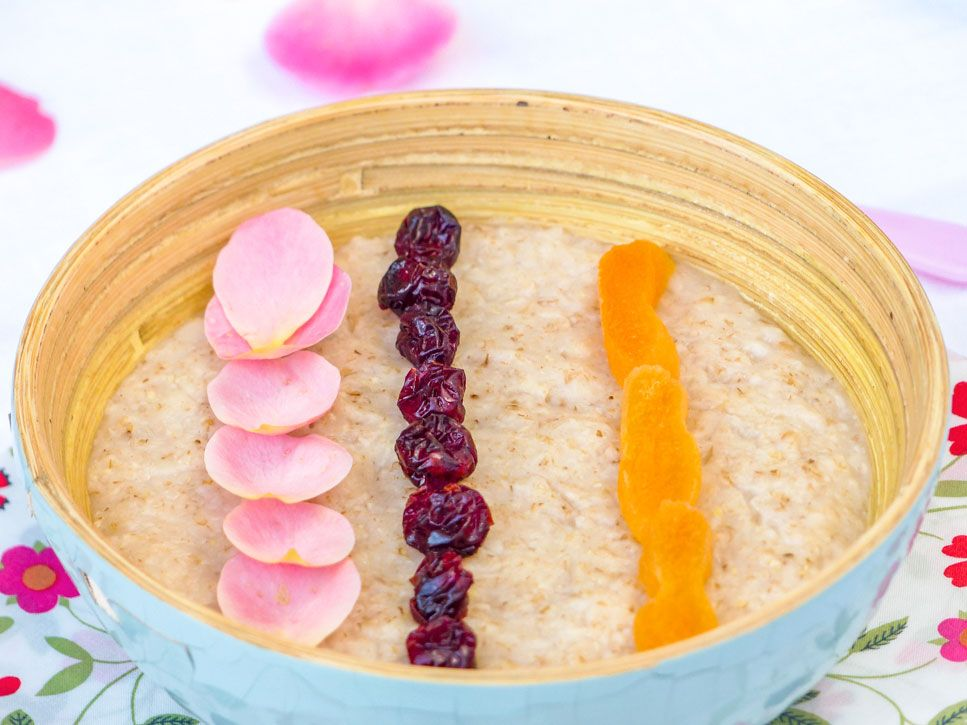 porridge avoine et cranberries