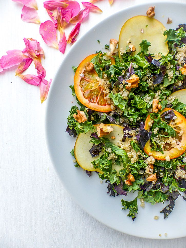 salade quinoa kale orange