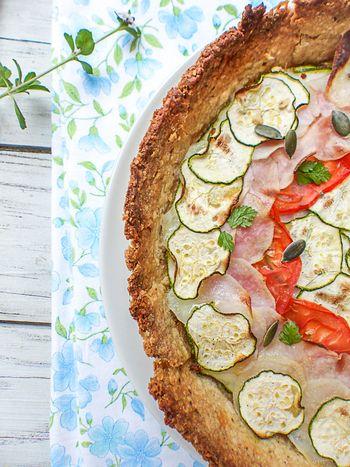 Tarte courgette, tomates & pommes de terre #vegan