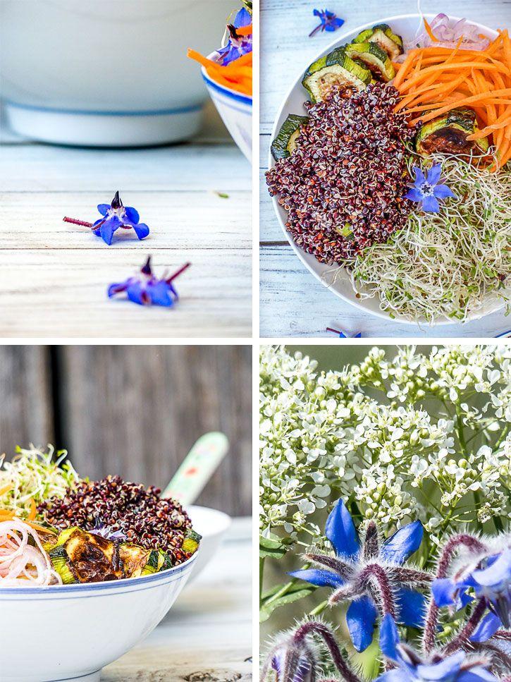 bowl au quinoa noir
