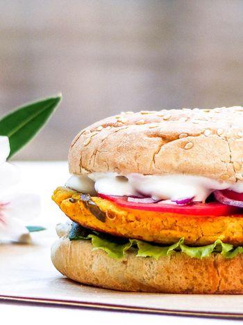 Burger vegan aux lentilles corail