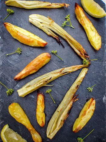 Fenouil et pommes de terre confits au citron
