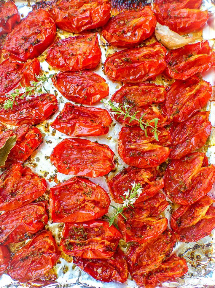 plaque de tomates confites
