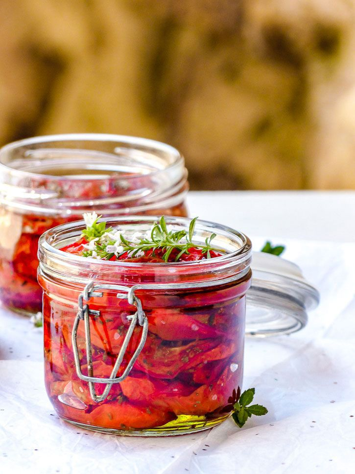 conservation des aliments tomates confites