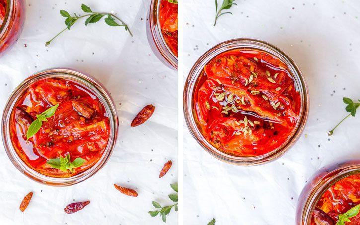 tomates confites au piment ou fenouil