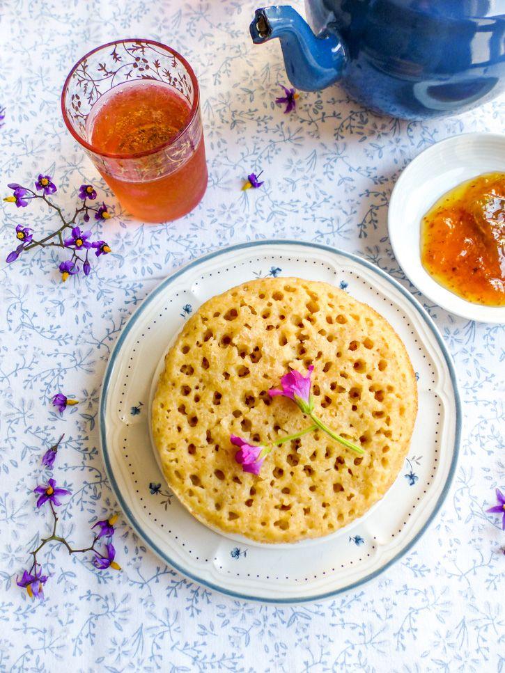 Baghrir Marocain La Crêpe Aux Mille Trous Du Petit Déjeuner